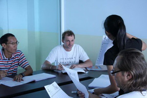 Students in Thai Language Class